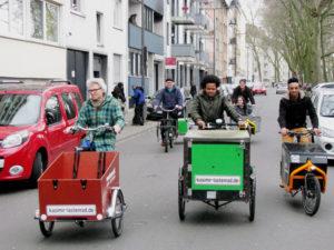 Die Bürgerstiftung Köln finanzierte das neue Lastenrad des Vereins wielebenwir e.V., das