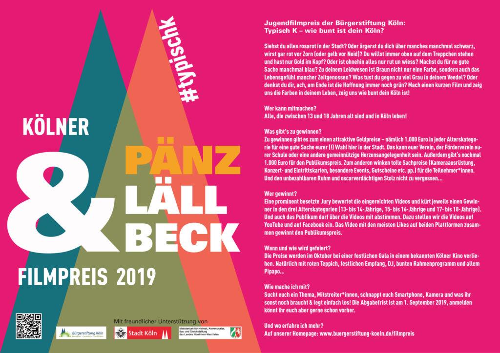 Der Pänz & Lällbeck Filmpreis der Bürgerstiftung Köln