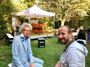 Sven und Martin vom Vorstand der Bürgerstiftung Köln zu Besuch beim Ambientfestival der Liebe.