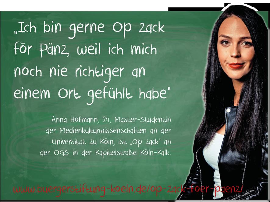 """Anna Hofmann ist """"Op zack för Pänz"""" in Köln-Kalk"""
